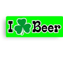 I Shamrock Beer Canvas Print