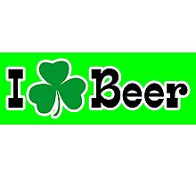 I Shamrock Beer Photographic Print