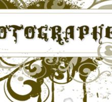 Photographer Grunge Sticker