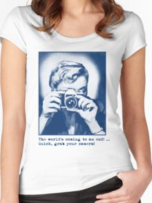 Grab your camera! Women's Fitted Scoop T-Shirt