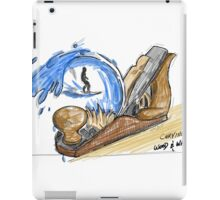 Carving wood and waves  iPad Case/Skin