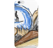 Carving wood and waves  iPhone Case/Skin