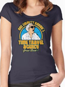 Time travel agency Women's Fitted Scoop T-Shirt