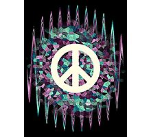Hippie  White Symbol Photographic Print