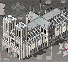 Isometric Infographic Notre Dame de Paris by aurielaki