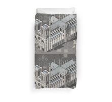 Isometric Infographic Notre Dame de Paris Duvet Cover