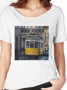 Yellow tram, Lisbon, Portugal Women's Relaxed Fit T-Shirt