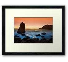 McClure's Beach Sunset Framed Print