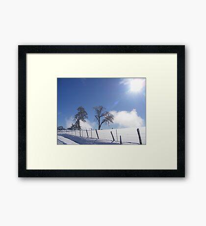 Stark Cold Framed Print