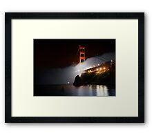 Golden Gate Fog at Night Framed Print