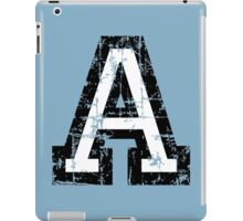 Letter A (Distressed) two-color black/white character iPad Case/Skin
