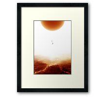 Mars Diving Framed Print