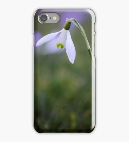 A single snowdrop iPhone Case/Skin