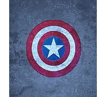 Shield of Captain A. Photographic Print