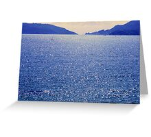 blue glow Greeting Card