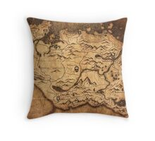 Distressed Maps: Elder Scrolls Skyrim Throw Pillow