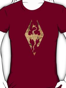 Distressed Maps: Elder Scrolls Skyrim T-Shirt