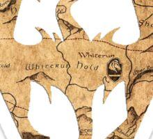 Distressed Maps: Elder Scrolls Skyrim Sticker