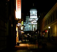 Tuomiokirkko at night, Helsinki by C1oud