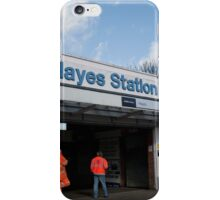 Hayes Railway Station in Kent iPhone Case/Skin
