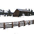 A Snowy Barn by NancyC
