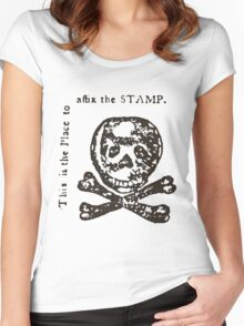 The Dreaded Stamp! Women's Fitted Scoop T-Shirt