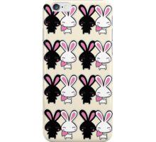 2 Cute Cartoon Rabbits iPhone Case/Skin