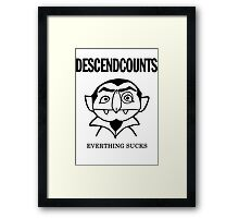 Descendcounts - everything sucks Framed Print