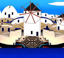 Aegean Windmills of Santorini  (G1394) by barrowda