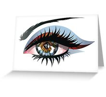 Blue Eye with Makeup Greeting Card