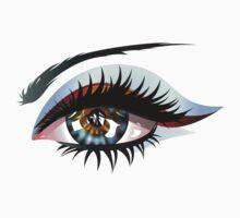 Blue Eye with Makeup Kids Tee