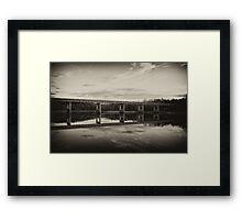 Grayson Lake Bridge (B&W) Framed Print