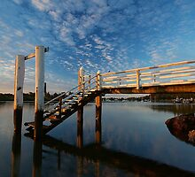 Jetty in Yamba, New South Wales by groophics