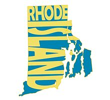 Rhode Island State Word Art by surgedesigns