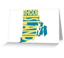 Rhode Island State Word Art Greeting Card