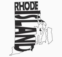 Rhode Island State Word Art Kids Clothes