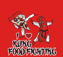 I Love Kung Food FIghting One Piece - Short Sleeve