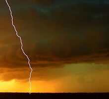 Sunset lightning by Matthew Smith