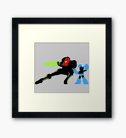 Retro Forever - Heroes in Arms Framed Print