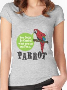 I'M A PARROT Women's Fitted Scoop T-Shirt