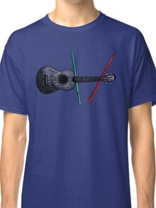 Ukulele and drumsticks Classic T-Shirt