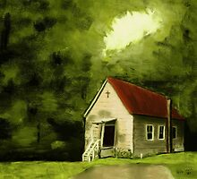 """""""Country Church 1""""... prints and products by © Bob Hall"""