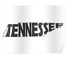 Tennessee State Word Art Poster