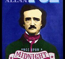 Edgar Allan Poe - The Raven Quotation Portrait by TropicalToad