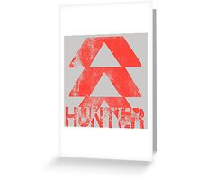 Destiny Hunter grunge Greeting Card