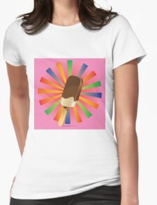 Chocolate Ice Cream Background Womens Fitted T-Shirt
