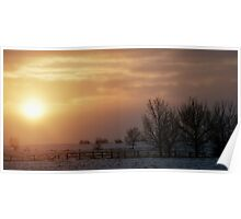 Sun Through the Snow Clouds Poster