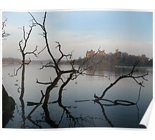 Linlithgow Loch and Palace Poster