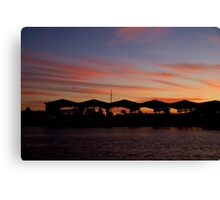 Sunset at the Wharf Canvas Print