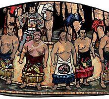 sumo wrestlers by KobusCheynedB